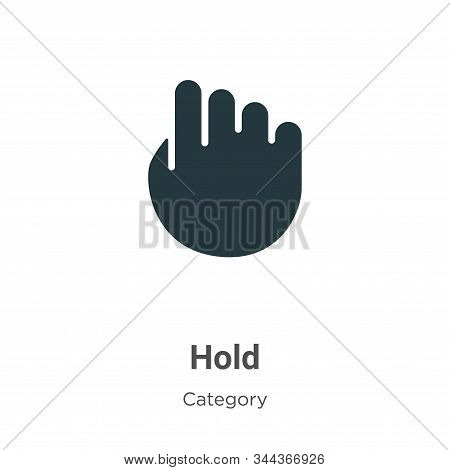 Hold icon isolated on white background from cursor collection. Hold icon trendy and modern Hold symb