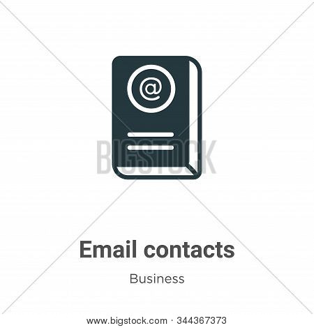 Email contacts icon isolated on white background from business collection. Email contacts icon trend