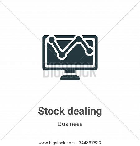 Stock Dealing Vector Icon On White Background. Flat Vector Stock Dealing Icon Symbol Sign From Moder