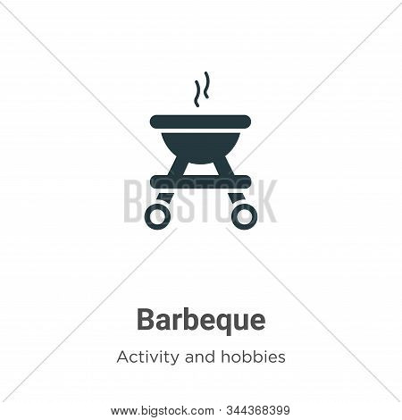 Barbeque Vector Icon On White Background. Flat Vector Barbeque Icon Symbol Sign From Modern Activity