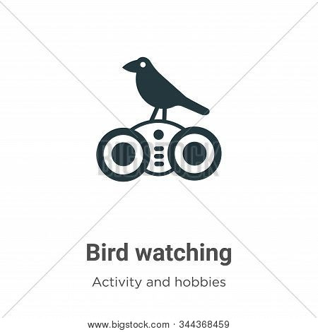 Bird watching icon isolated on white background from activity and hobbies collection. Bird watching