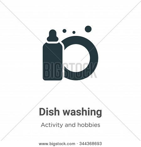 Dish washing icon isolated on white background from activity and hobbies collection. Dish washing ic