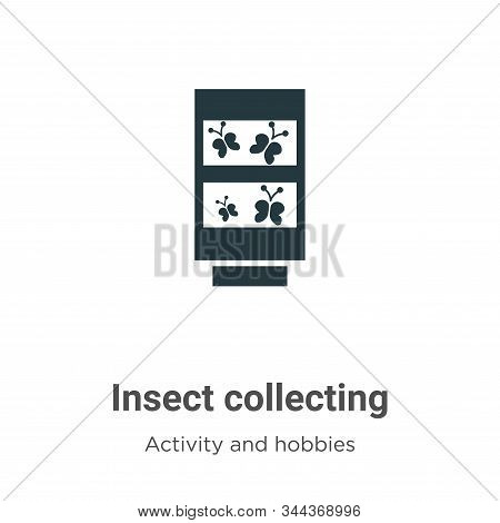 Insect collecting icon isolated on white background from activity and hobbies collection. Insect col