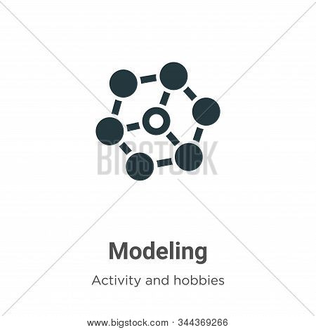 Modeling icon isolated on white background from activity and hobbies collection. Modeling icon trend