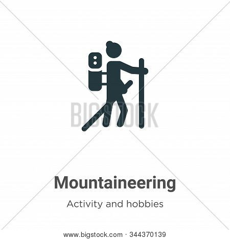 Mountaineering icon isolated on white background from activities collection. Mountaineering icon tre