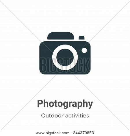 Photography Vector Icon On White Background. Flat Vector Photography Icon Symbol Sign From Modern Ou