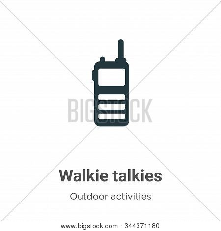 Walkie talkies icon isolated on white background from outdoor activities collection. Walkie talkies