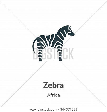 Zebra icon isolated on white background from africa collection. Zebra icon trendy and modern Zebra s