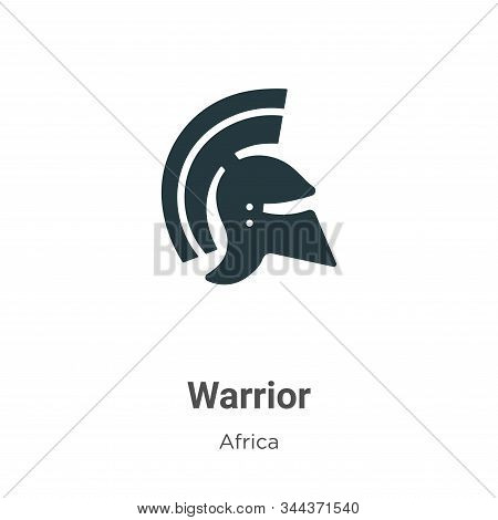 Warrior icon isolated on white background from africa collection. Warrior icon trendy and modern War