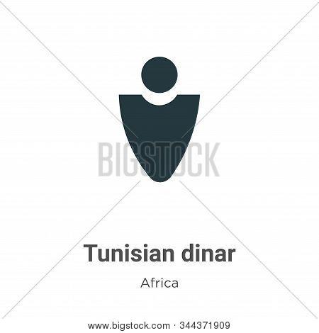 Tunisian dinar icon isolated on white background from africa collection. Tunisian dinar icon trendy