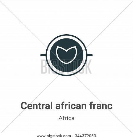 Central african franc icon isolated on white background from africa collection. Central african fran