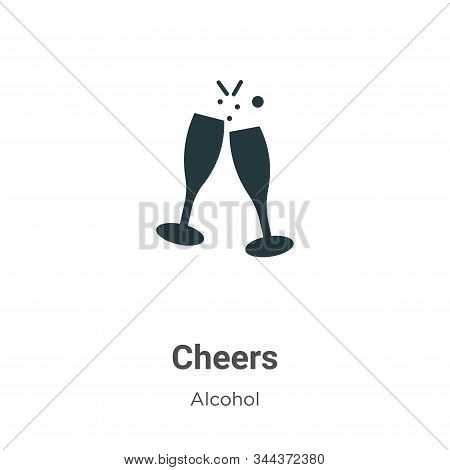 Cheers icon isolated on white background from alcohol collection. Cheers icon trendy and modern Chee