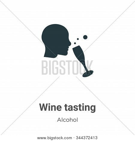Wine tasting icon isolated on white background from alcohol collection. Wine tasting icon trendy and