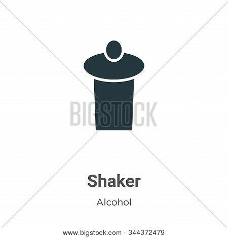 Shaker icon isolated on white background from alcohol collection. Shaker icon trendy and modern Shak