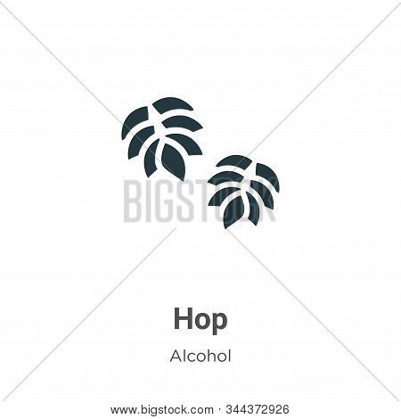 Hop icon isolated on white background from alcohol collection. Hop icon trendy and modern Hop symbol