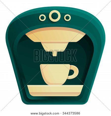 Americano Coffee Machine Icon. Cartoon Of Americano Coffee Machine Vector Icon For Web Design Isolat