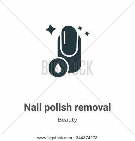 Nail polish removal icon isolated on white background from beauty collection. Nail polish removal ic