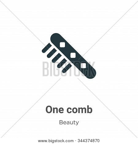 One comb icon isolated on white background from beauty collection. One comb icon trendy and modern O
