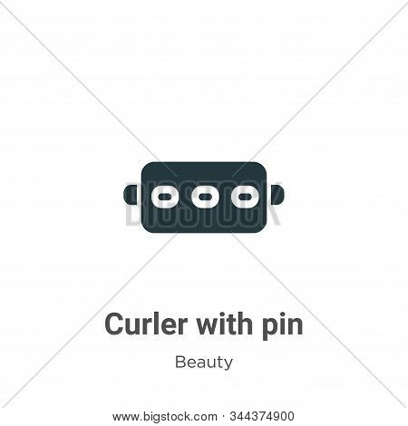 Curler With Pin Vector Icon On White Background. Flat Vector Curler With Pin Icon Symbol Sign From M