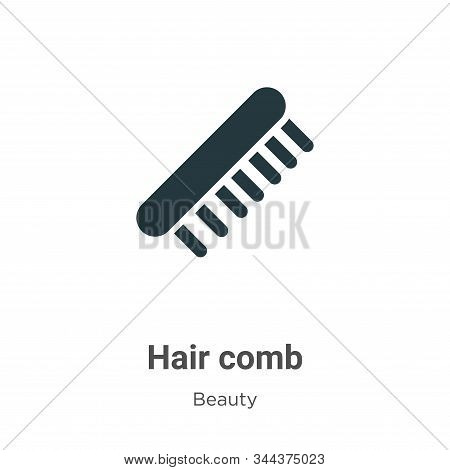 Hair comb icon isolated on white background from beauty collection. Hair comb icon trendy and modern