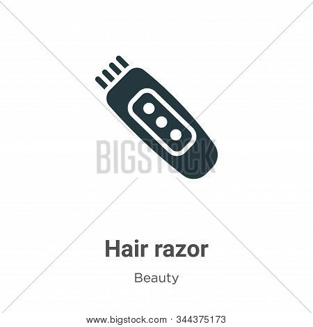 Hair razor icon isolated on white background from beauty collection. Hair razor icon trendy and mode