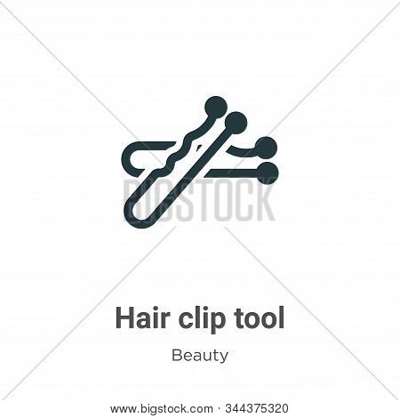 Hair clip tool icon isolated on white background from beauty collection. Hair clip tool icon trendy