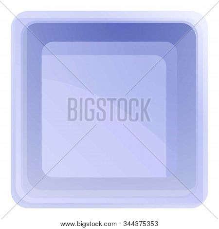 Top View Plastic Tableware Icon. Cartoon Of Top View Plastic Tableware Vector Icon For Web Design Is
