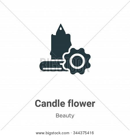 Candle flower icon isolated on white background from beauty collection. Candle flower icon trendy an
