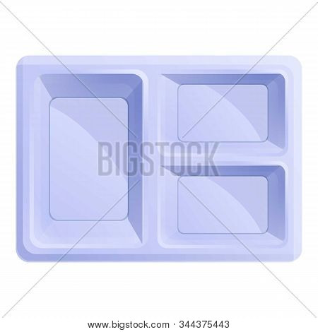 Student Lunch Box Icon. Cartoon Of Student Lunch Box Vector Icon For Web Design Isolated On White Ba