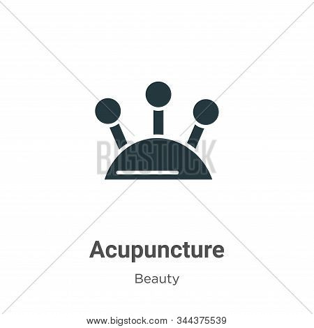 Acupuncture icon isolated on white background from beauty collection. Acupuncture icon trendy and mo