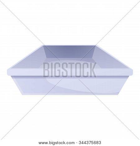 Plastic Tableware Icon. Cartoon Of Plastic Tableware Vector Icon For Web Design Isolated On White Ba