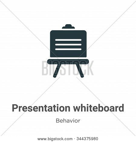 Presentation whiteboard icon isolated on white background from behavior collection. Presentation whi