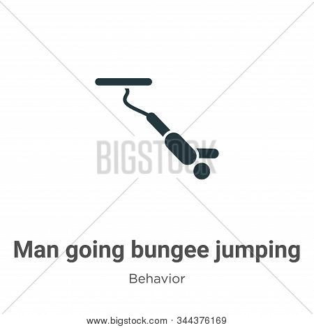 Man going bungee jumping icon isolated on white background from behavior collection. Man going bunge