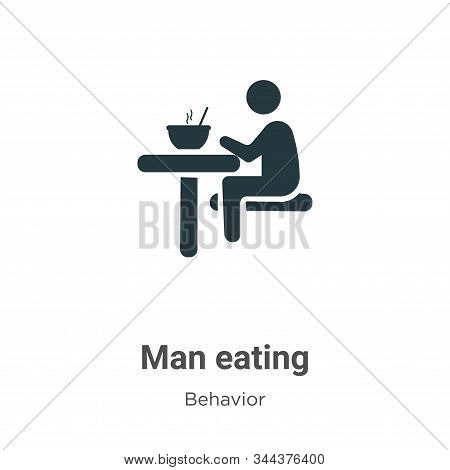 Man eating icon isolated on white background from behavior collection. Man eating icon trendy and mo