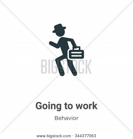 Going to work icon isolated on white background from behavior collection. Going to work icon trendy