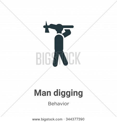 Man digging icon isolated on white background from behavior collection. Man digging icon trendy and