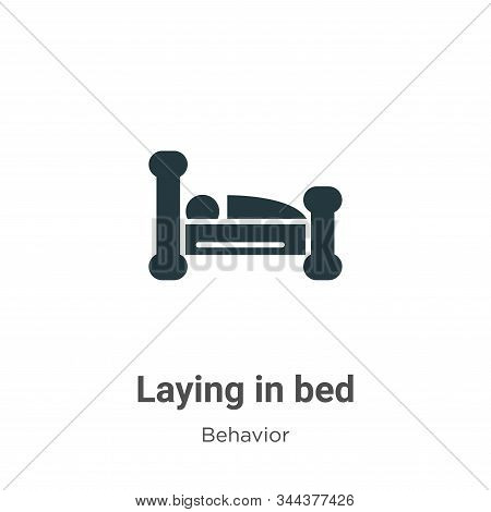 Laying in bed icon isolated on white background from behavior collection. Laying in bed icon trendy