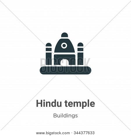 Hindu temple icon isolated on white background from buildings collection. Hindu temple icon trendy a