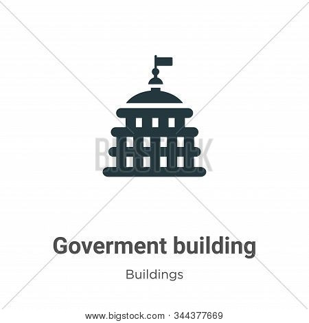 Goverment building icon isolated on white background from buildings collection. Goverment building i