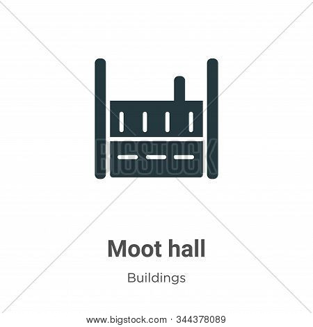 Moot Hall Vector Icon On White Background. Flat Vector Moot Hall Icon Symbol Sign From Modern Buildi