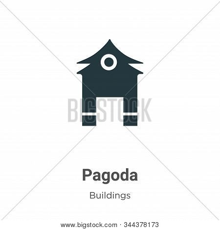 Pagoda icon isolated on white background from buildings collection. Pagoda icon trendy and modern Pa