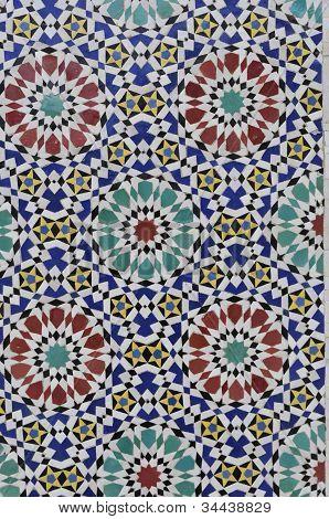 Moroccan Mosaic At Fes Royal Palace Gate
