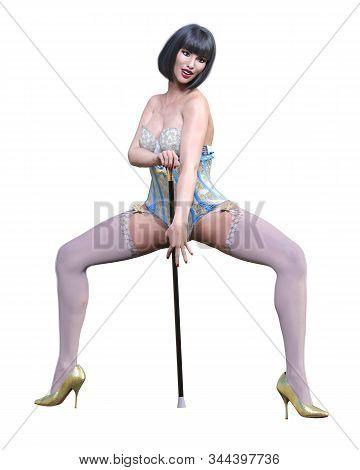 Tall Sexy Woman Corset.
