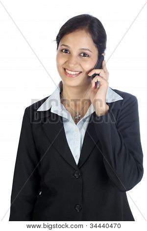Business Woman Talking On Cellphone