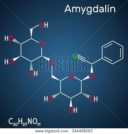 Amygdalin, Laetrile Molecule, Is A Naturally Occurring Cyanogenic Glycoside. Structural Chemical For