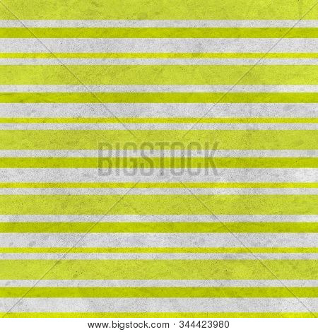 Chartreuse Gungy Wrinkled Horizontal Stripes Pattern In Varied Size Stripes And Shades Of Chartreuse
