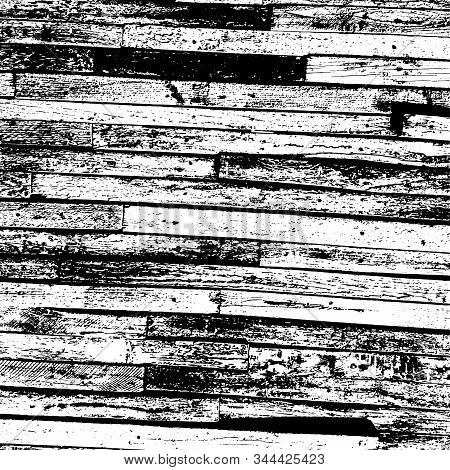 Wooden Dry Planks Diagonal Distressed Overlay Texture With Knot. Aged Dried Board Creative Element.