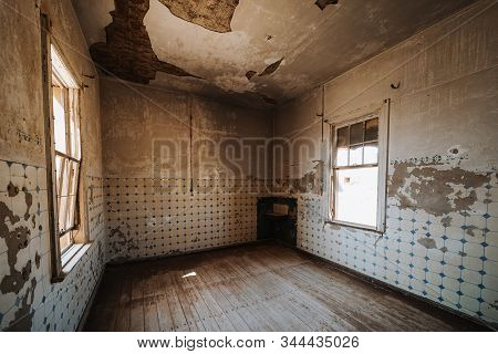 Old Kitchen Room Without Funiture And Equipment Before Renovation
