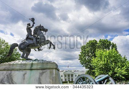 Jackson Statue Canons Lafayette Park White House Washington Dc
