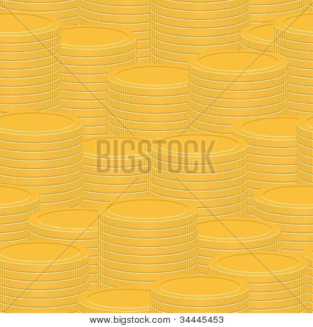 Stacks Of Gold Coins - Abstract Vector Texture